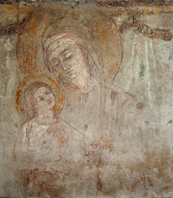 The fresco of the Vergin and Baby Jesus