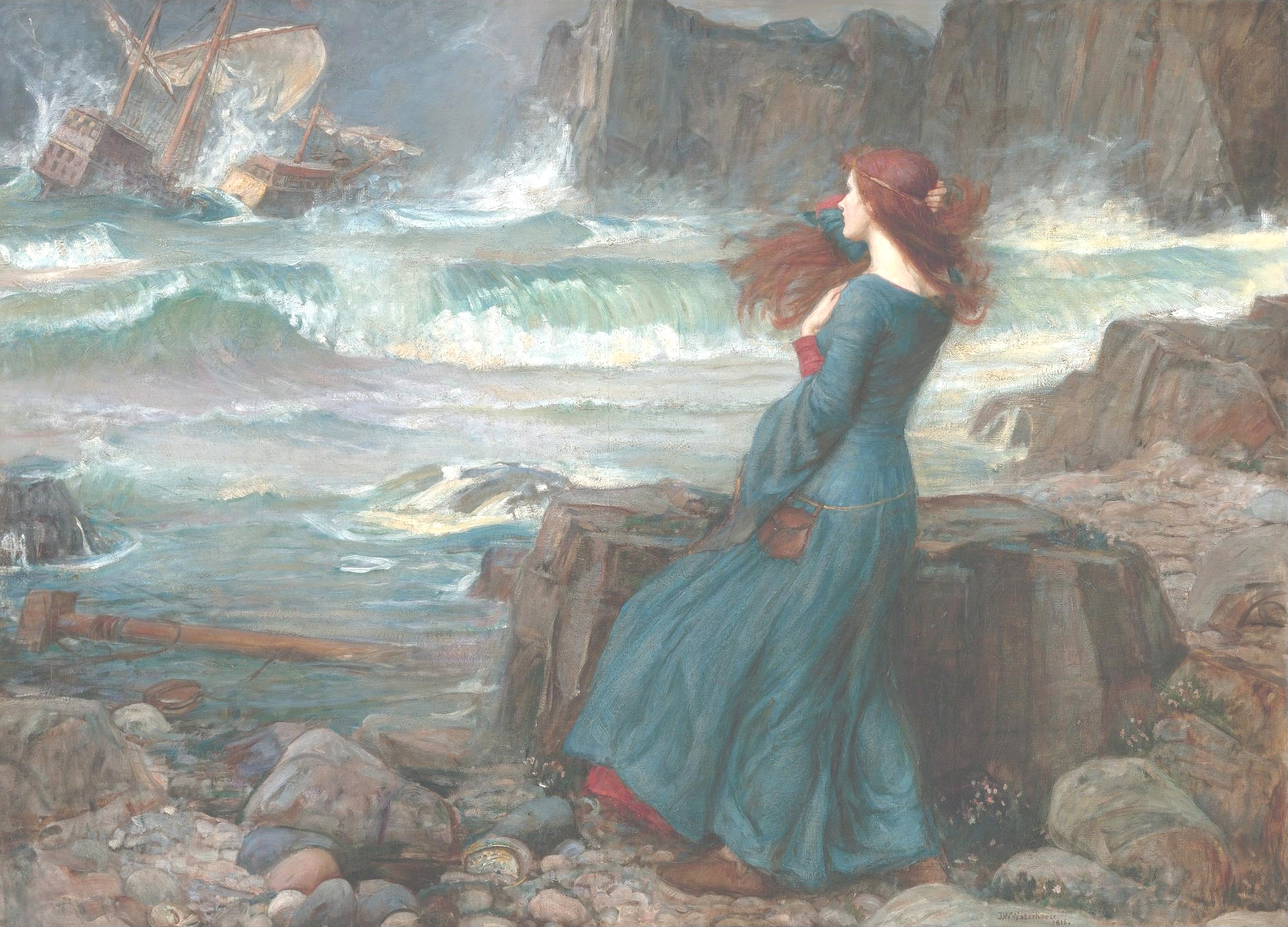 John William Waterhouse Miranda - The Tempest (1916) Pubblico dominio, https://commons.wikimedia.org/w/index.php?curid=720595